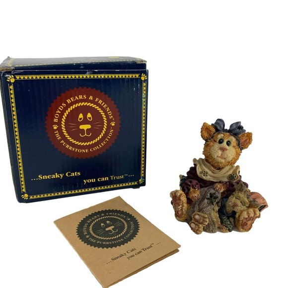 Boyds Bears Friends Purrstone Collection Figurine